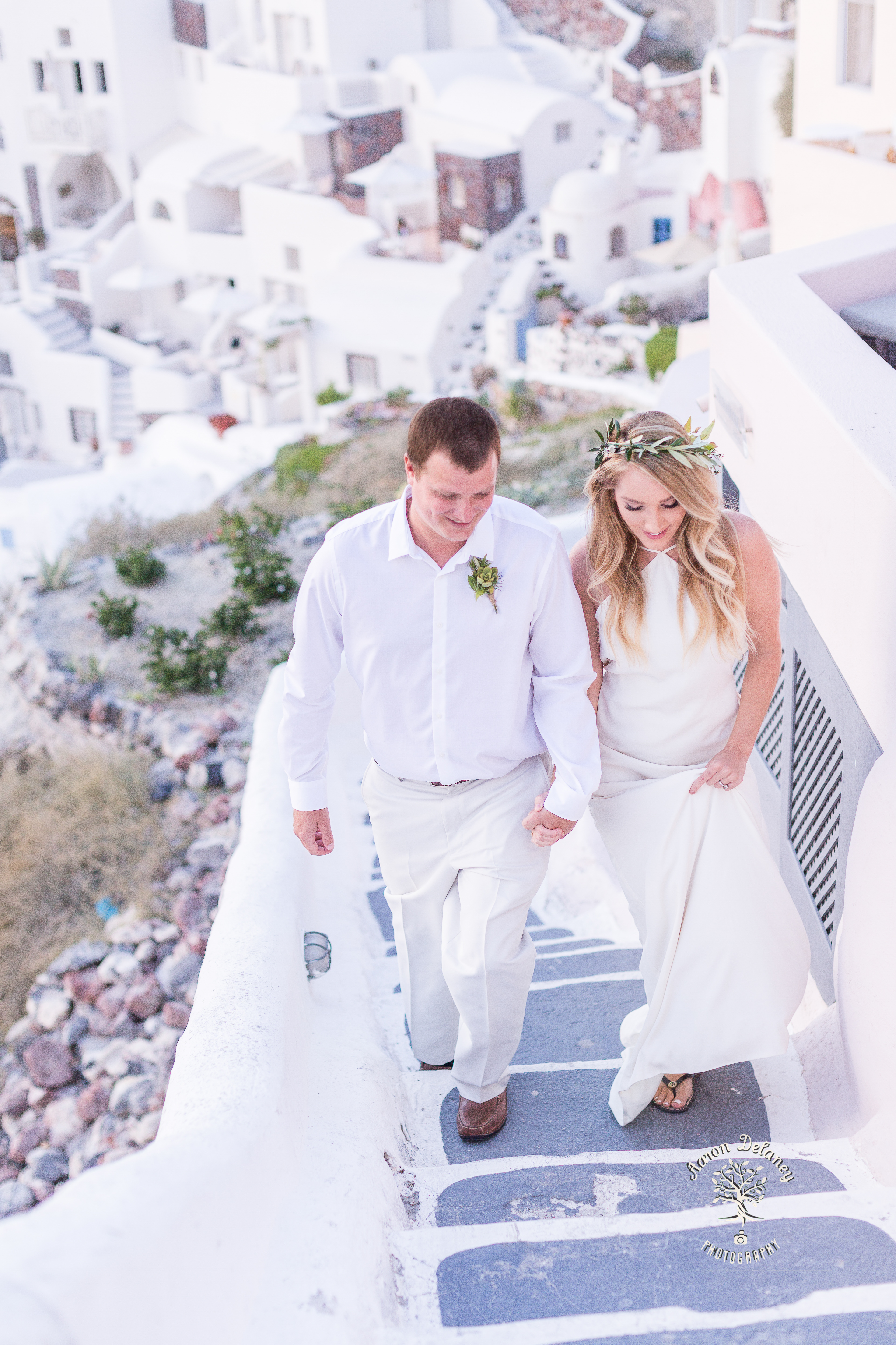Santorini proposal wedding Oia