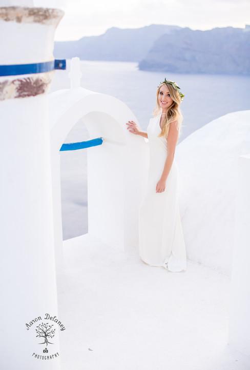 Santorini Bride wedding photographer