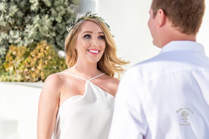 private wedding ceremony santorini Greece