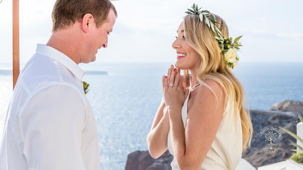 intimate wedding ceremony santorini