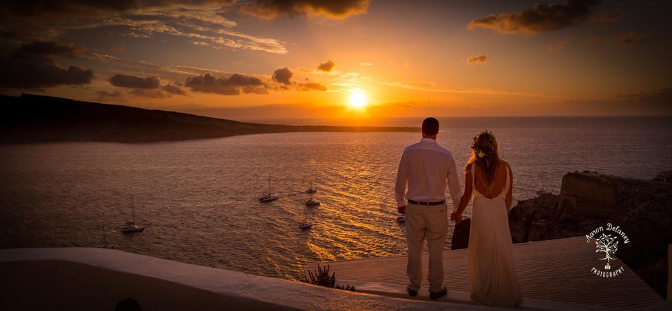 best view in santorini wedding