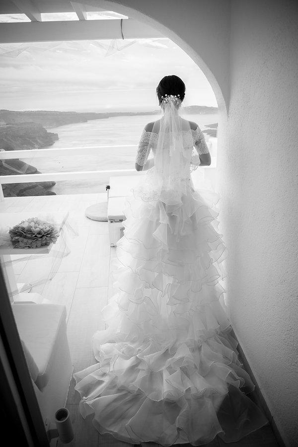 Santorini bride wedding