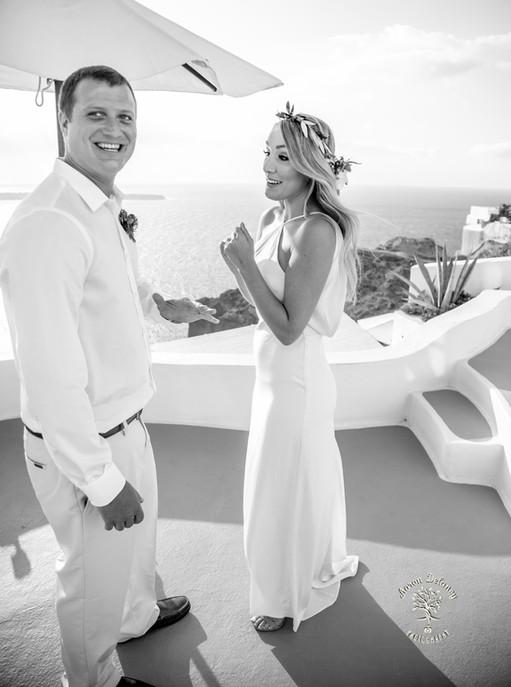 private wedding santorini greece