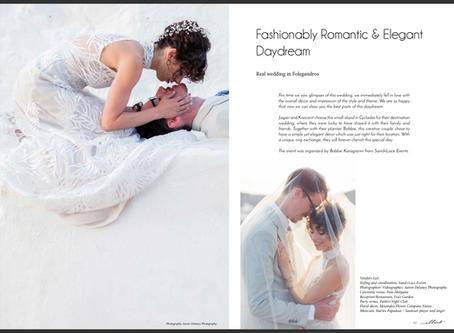 Folegandros island Greece wedding, published in ellwed magazine