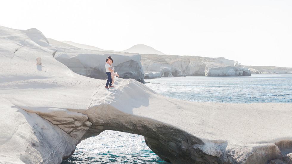 Milos island greece wedding photographer