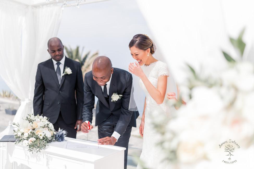 Santorini le ciel wedding