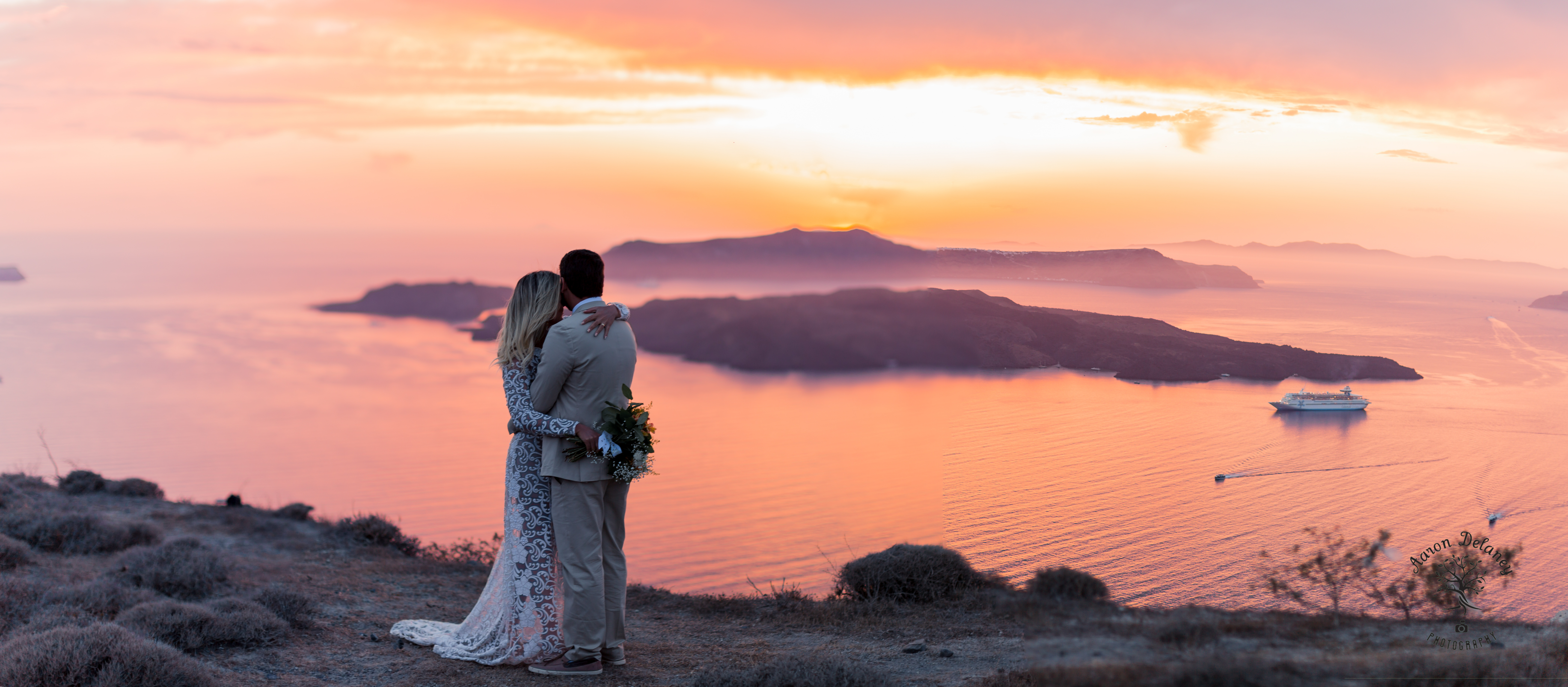 Santorini Elopement wedding