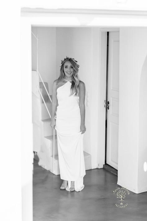 Beautiful bride Santorini Greece