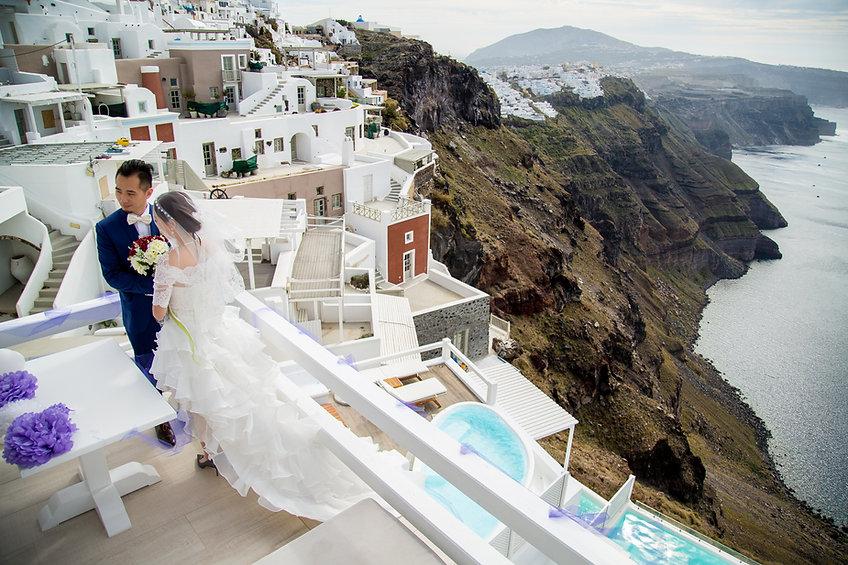 Stunning wedding destination venue santorini Greece