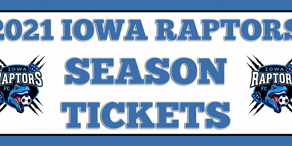 Iowa Raptors 2021 Season Tickets