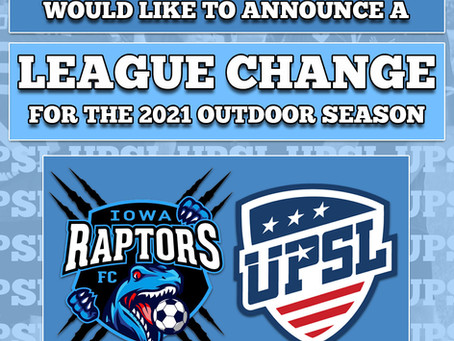 Raptors Outdoor League Change and New Men's Head Coach