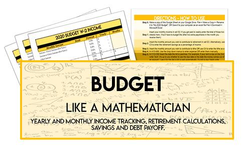 Budget Like a Mathematician 2020 - Employee
