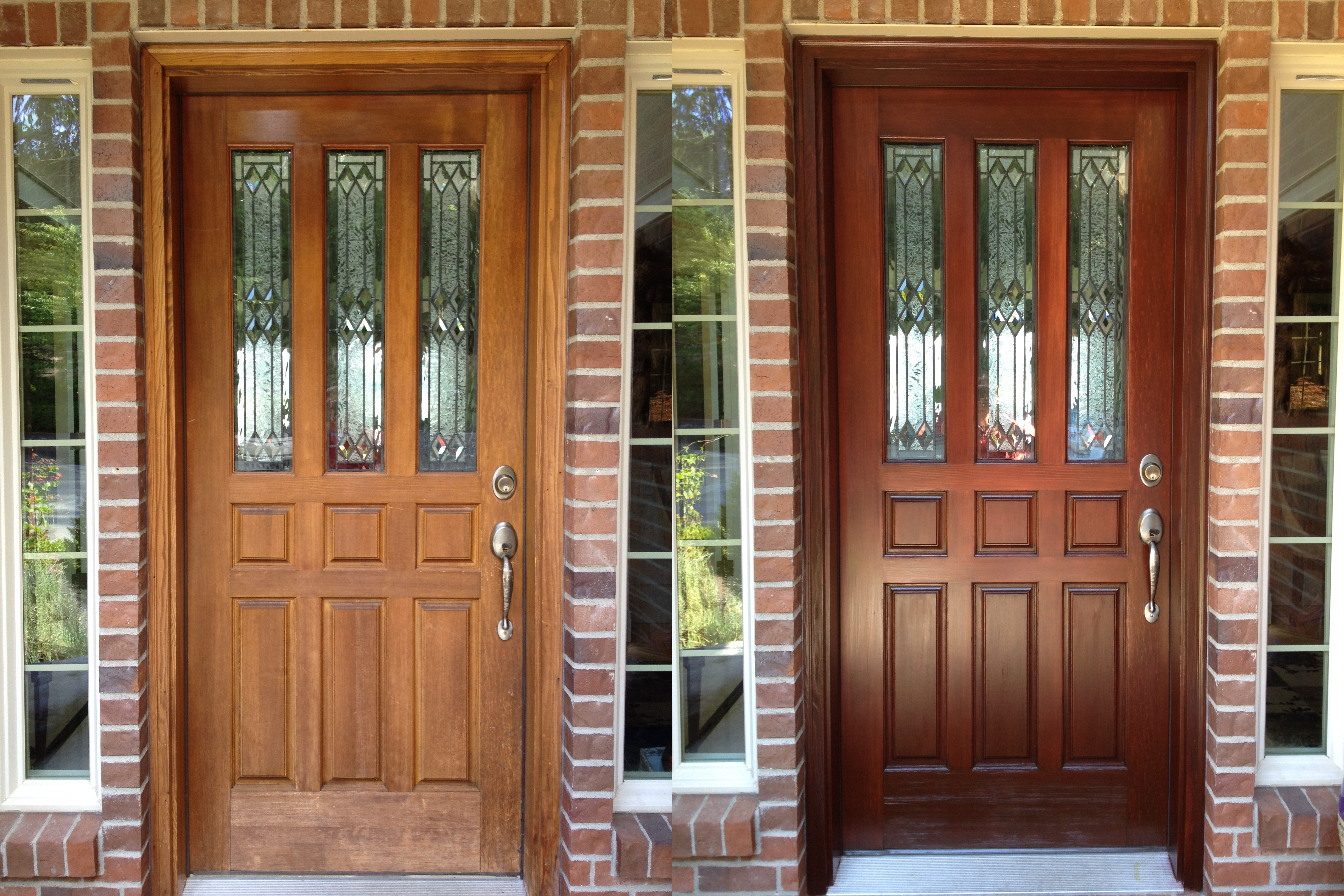 Fir Door Before & After
