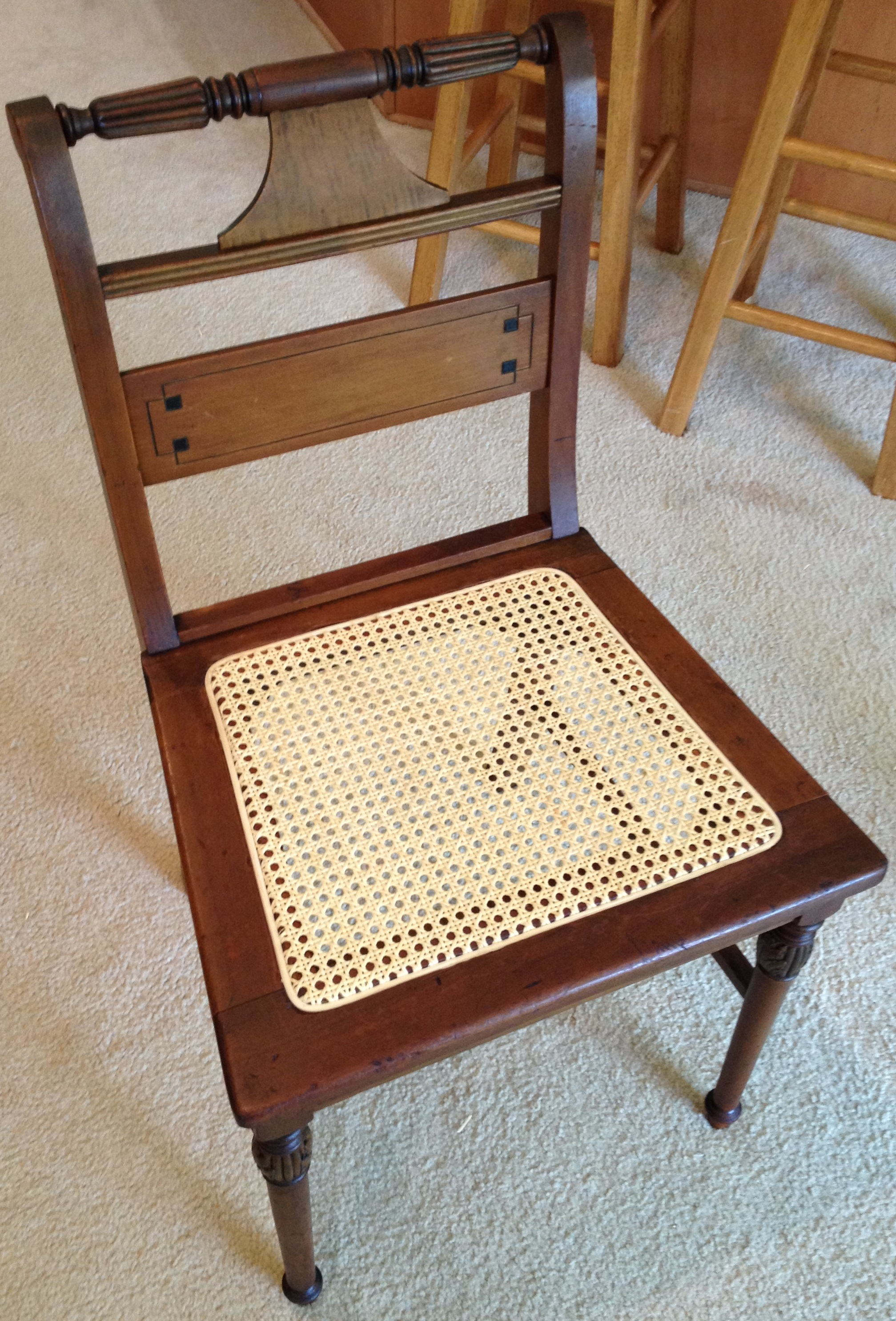 Cane Dining Chair - Finished