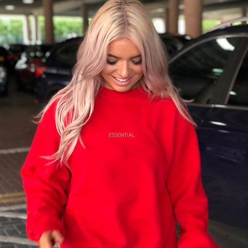ESSENTIAL, Red Boyfriend Sweatshirt