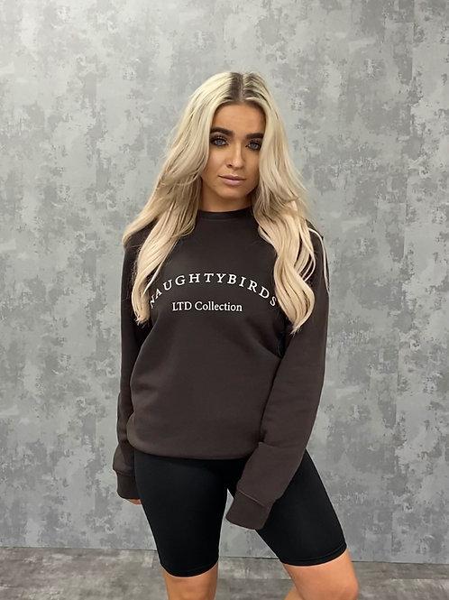 Organic Sweatshirt - Chocolate Brown