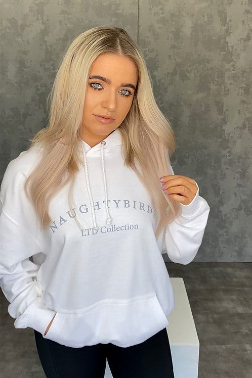NAUGHTYBIRDS LTD COLLECTION - White Original Hoodie