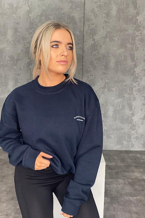 Naughtybirds Ltd -  Navy Boyfriend Sweatshirt