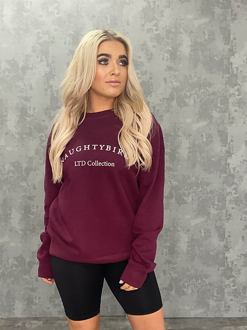 NAUGHTYBIRDS LTD COLLECTION- Oversized Sweatshirt Cherry