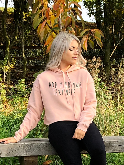 Personalise your own, Oversized Crop Hoodie