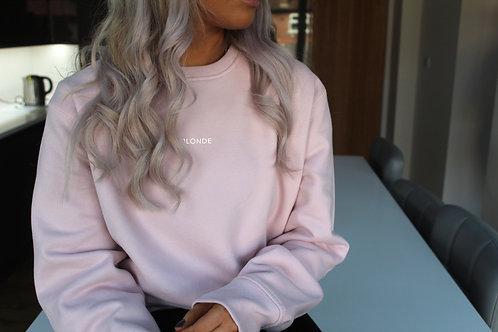 Blonde - Pastel Pink Oversized Sweatshirt