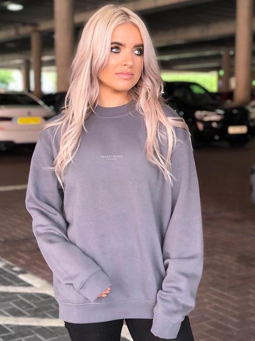 Naughtybirds Ltd , Charcoal Boyfriend Sweatshirt
