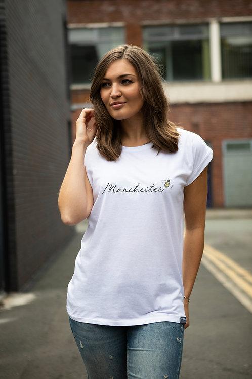 Manchester, Cuffed Sleeve T shirt