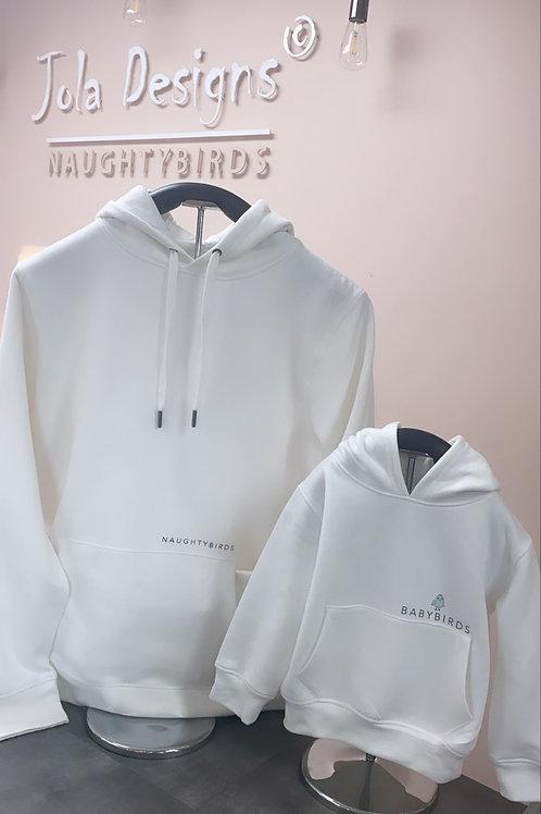 NAUGHTYBIRDS - White Hoodie