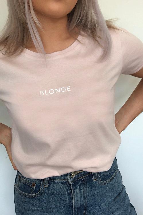 BLONDE - Misty Pink Organic T-Shirt