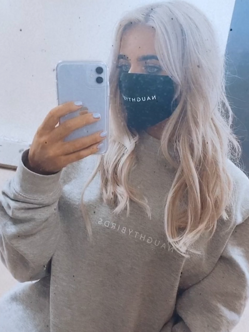 NAUGHTYBIRDS - Grey Marl Boyfriend Sweatshirt