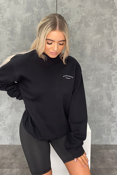 Naughtybirds Ltd -  Black Boyfriend Sweatshirt