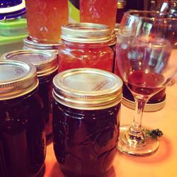 wine glass and jam jars.jpg