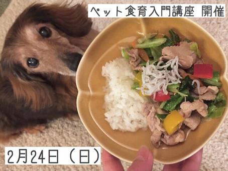 2月24日(日):第7回ペット食育入門講座開催