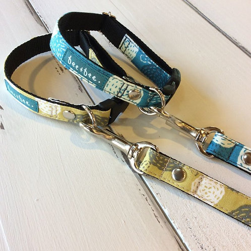 stetch flower collar&lead