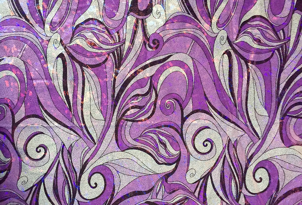 Purple Swirl (Foil Finish) Fabric Choice