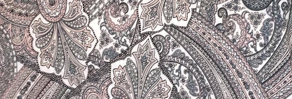 Pink-Gray-white Paisley Fabric Choice