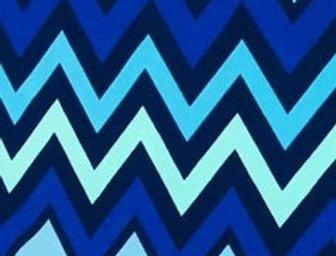 Shades of Blue Chevrons Fabric Choice