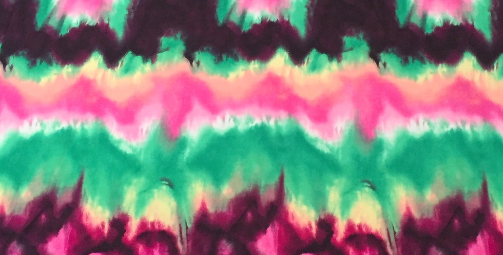 Green - Pink - Black Tie Dye Fabric Choice