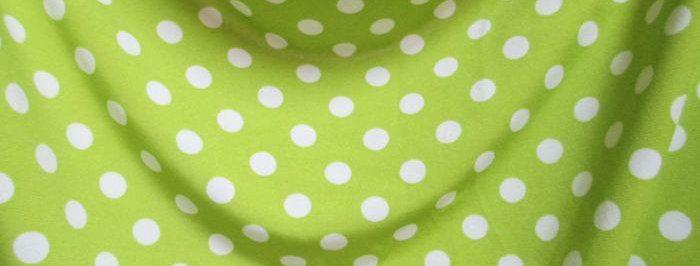 Green-White Dots Fabric Choice