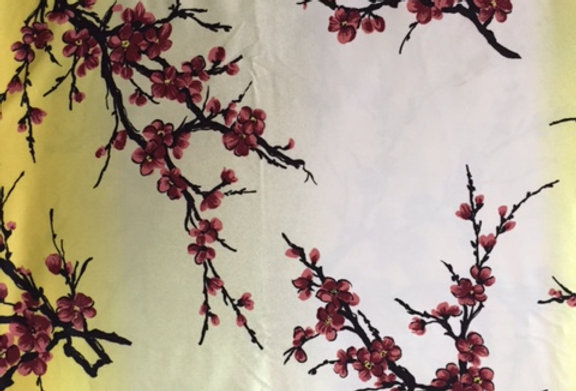 Yellow - Ivory Cherry Blossom Fabric Choice