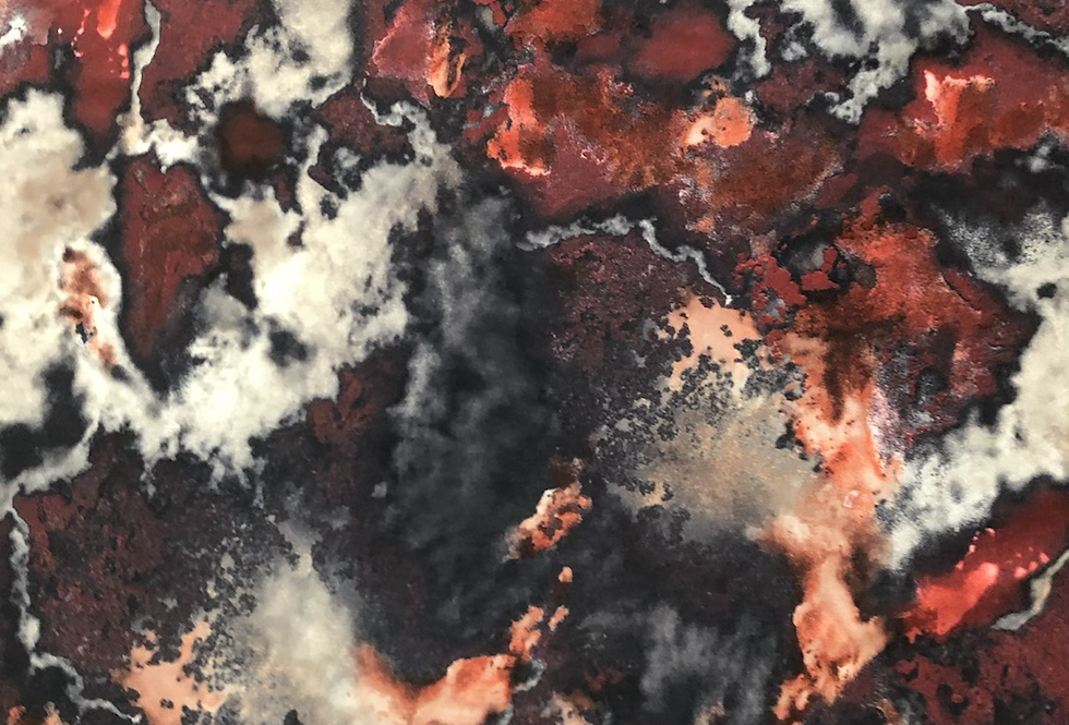 Abstract Charred Crimson