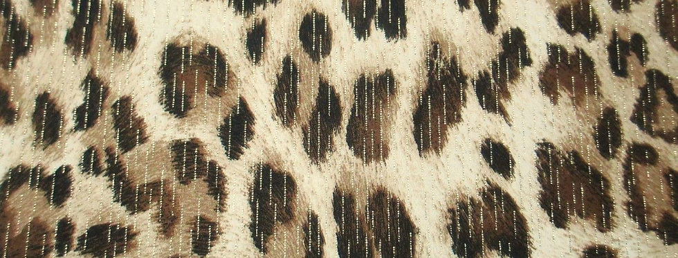 Browns-Black Animal Print Foil Fabric Choice