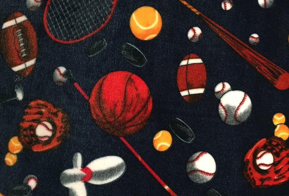 Navy Blue Sports on Stretch Velour