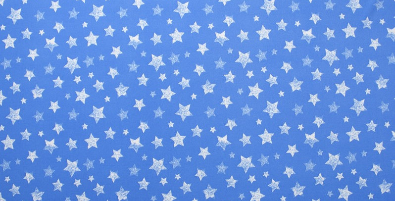 Sky Blue with white Stars Fabric Choice