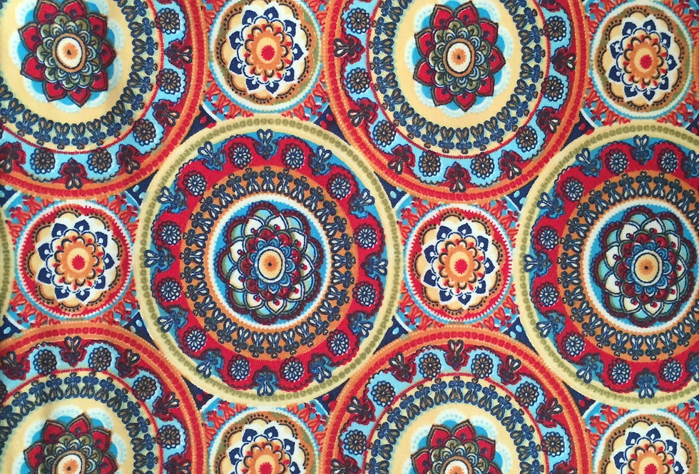 Colorful Boho Medallion Fabric