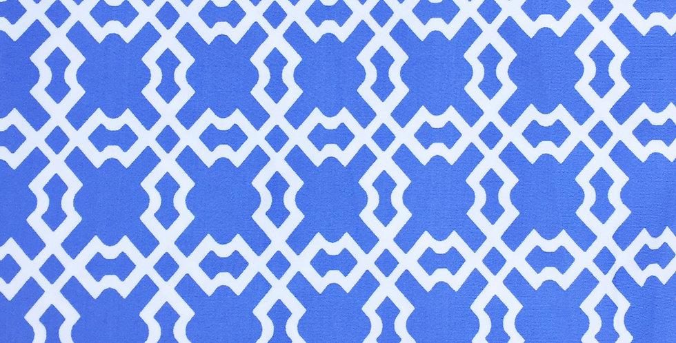 Periwinkle & White Lattice Fabric Choice