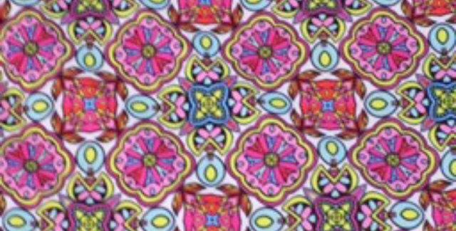 Pastel Mosaic Tile Print