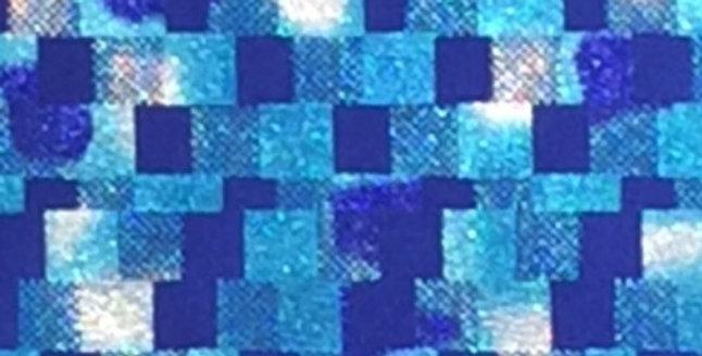 Shades of Metallic Blue Mosaic