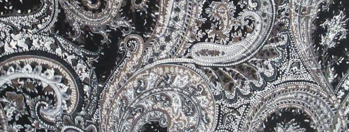 Black-Brown-Cream Paisley Fabric Choice