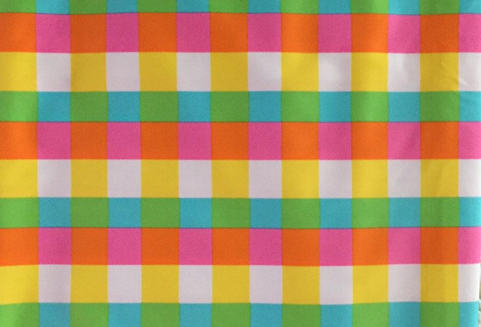 Pink - White - Yellow - Green Plain Fabric Choice